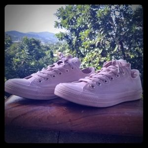 Converse Rose Gold Pale Pink Low Sneakers